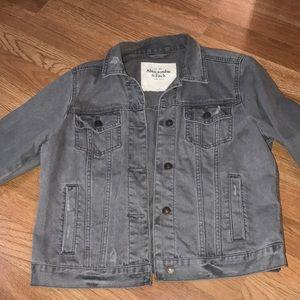Distressed gray denim jacket! NWOT